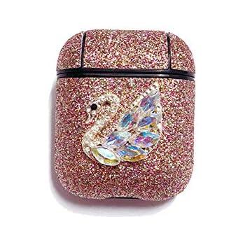 Amazon.com: Airpods Case,MeiQing Shimmer Diamonds Swan
