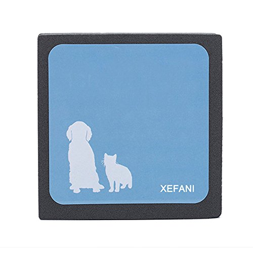 Xefani Pet Hair Cleaner Brush Square, Portable Hand Catcher for Quickly Cleaning up Hair of Pets Cat Dog, Pet Hair Remover Lint & Fur Removal Tool