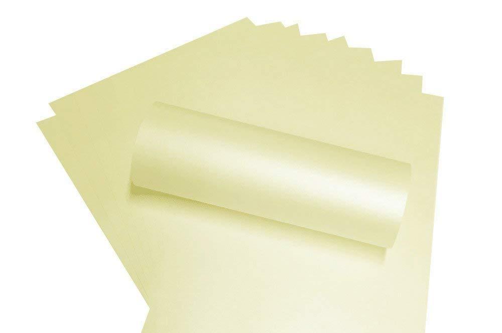 Frost Wei/ß Perlglanz quadratisch Papier f/ügt 120/gsm 130/mm x 130/mm x 20/St/ück