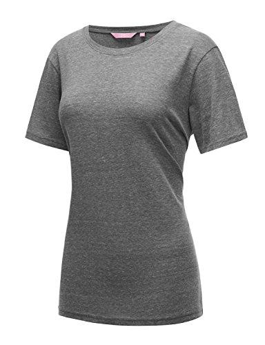 Regna X Women's Grey Solid Bridal Shower Back Workout Short Sleeve Tunic Top 2XL - Joe Sheer T-shirt