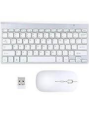 voor Desktop Laptop Computer, met Muis Set Draadloos Toetsenbord, voor Kantoor Huishouden,