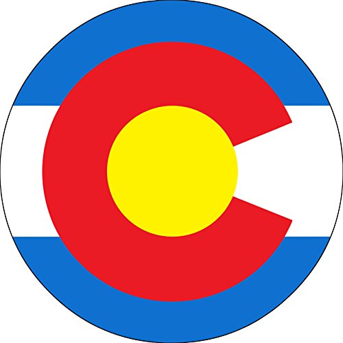 Top colorado flag tire cover