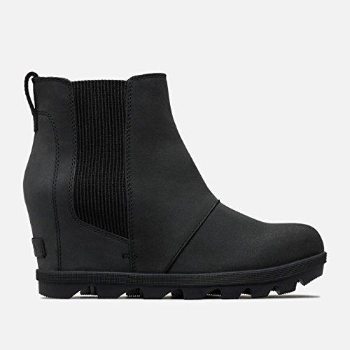 SOREL Women's Joan of Arctic Wedge II Chelsea Boots, Black, 8 M US