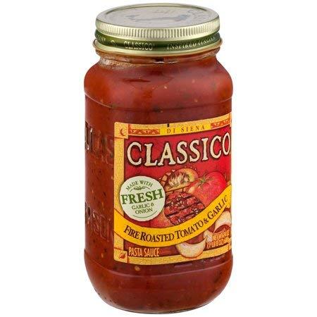 Fire Roasted Tomato & Garlic Pasta Sauce 24 oz. Jar, Fresh Garlic to Create a Well-Balanced
