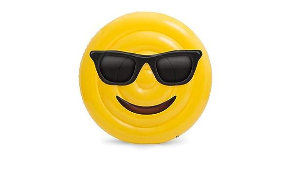 Sucastle Hinchable Cara Sonriente, Flotador Colchoneta Hinchable de Piscina, Fiesta Inflable de los Adultos del Juguete del Agua de la Natación, ...