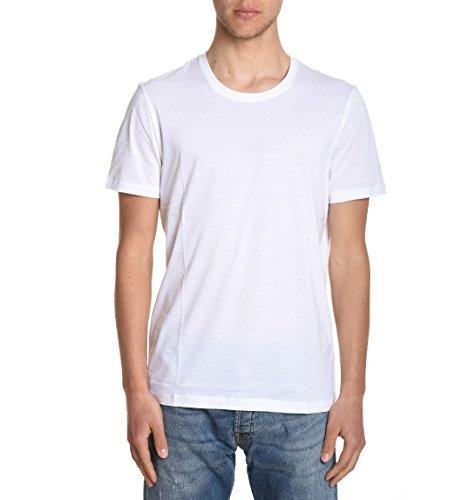 Hugo Boss Herren TIBURT3350333808100 Weiss Baumwolle T-Shirt
