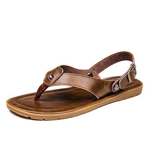 grueso sandalias de Hombres aire fondo playa Brown Zapatillas zapatos verano del de los de chanclas Cool hombres de 6qE04wS