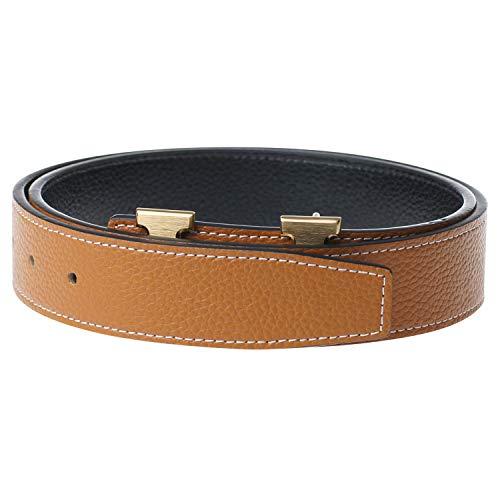 5b89d8e247a44 New Designer H Buckle Belt, High Quality Luxury Women's Leather Waist Belts  30inch Brown