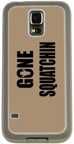 Rikki Knight Gone Squatchin on Brown Design Case (Clear TPU) for Samsung Galaxy S5