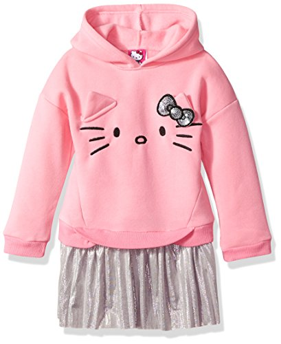 Hello Kitty Toddler Girls' Embellished Tutu Dress, Hooded Pink, 3T - Hello Kitty Pink Tutu