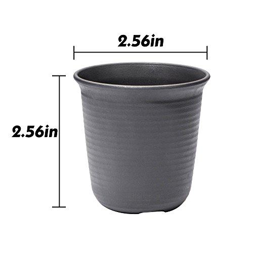 goldblue Plastic Round Succulent Plant Pot Cactus Plant Pot Flower Pot Container Planter Package 2.5inch-1 Pack of 12