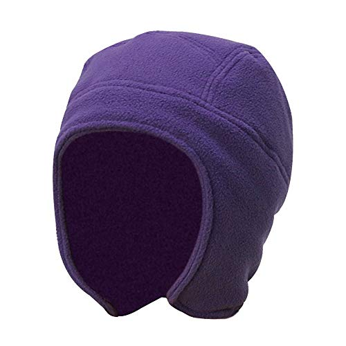 Weiliru Unisex Winter Outdoor Solid Color Fleece Earflap Hat Caps Ears Warm Hat