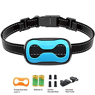 POP VIEW Intelligence Anti Bark Dog Collar. Stop Dogs Barking Sound & Vibration, Small & Large Dogs, No Shock, No Spray - Dog Bark Collar