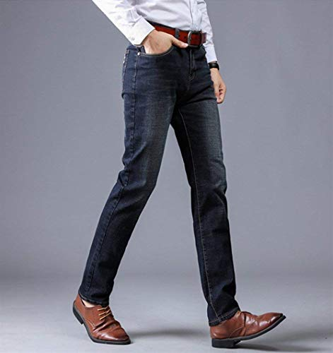 Uomo Giovane Pantaloni Slim Da 1 Denim Jeans In Fit Dritti Blau Casual Stretch xOzqwwBaX