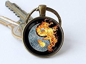 Ying Yang - Llavero con símbolo de equilibrio, joyería Ying ...