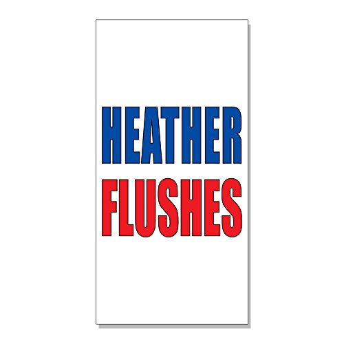 Heather Flushes Auto Car DECAL STICKER Retail Store Sign - 14.5 x 36 inches Heather Flush