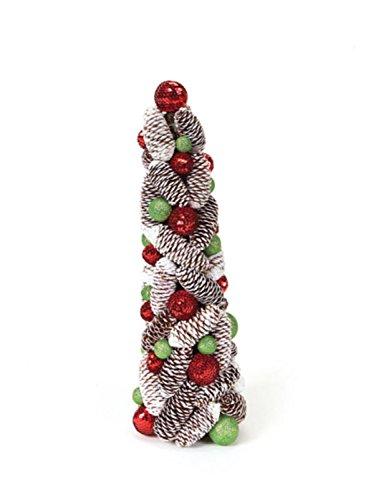 ted Pine Cone and Ball Artificial Christmas Topiary Tree (Pinecone Topiary)