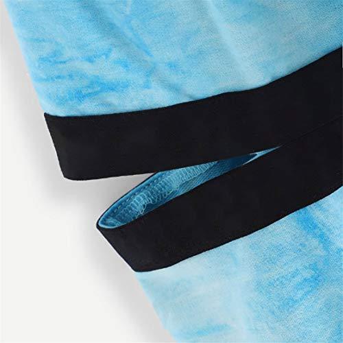 Elegante Cappuccio Bluestercool Donna Lunga Lunghe Maglietta Blu Felpe Con Corta Maniche Tumblr Manica qgw1OwY
