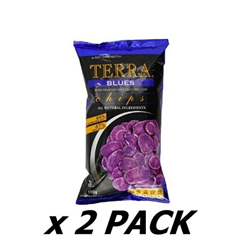 Blue Potato Chips (Terra Blue Chips 110G - 100G (Pack of 2))