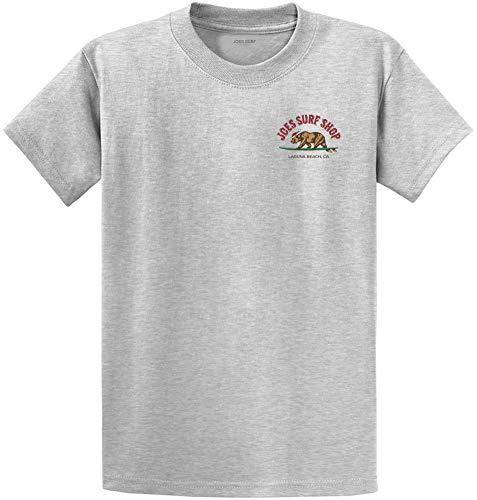 Joe's Surf Christmas Surfing Bear Logo Heavyweight Cotton T-Shirt-Ash/c-M