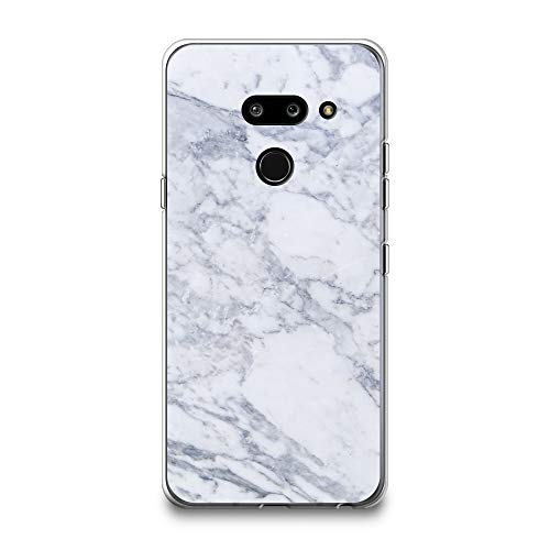 CasesByLorraine LG G8 ThinQ Case, LG G8 Case, Gray Marble Print Case Flexible TPU Soft Gel Protective Cover for LG G8 ThinQ (2019) (X03)