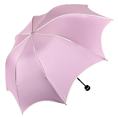 ZUMBR Z130 Windproof Strong Sunscreen Anti UV Clear/Rain Shine Dual-use Folding Ultra-light Umbrella Lightpink