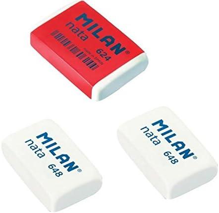 Acan Pack de 3 Gomas de borrar Milan Nata: Amazon.es: Hogar