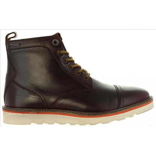 Herren LTH Jeans Boot Stiefel Rot Barley Reißverschluss Pepe 873Bark Schnürer xpI6q46