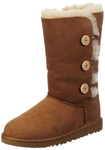 UGG-« Bailey Button Triplet Boot Kids Size 3, Chestnut by UGG