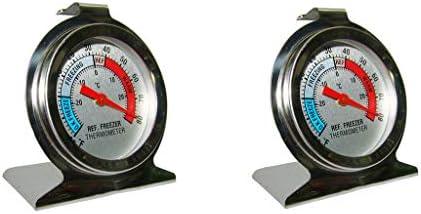 2x Termómetro para Congelador Cocina Acero Inoxidable ...