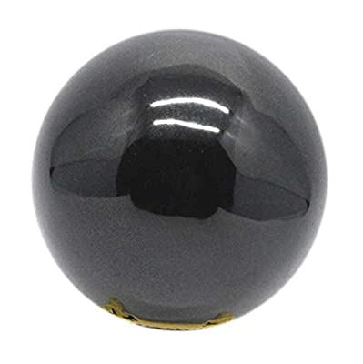 SHIVANSH CREATIONS Healing Crystals Naturals Gemstone Hand Carved Aura Balancing Metaphysical Black Obsidian Sphere Ball 60-70 MM
