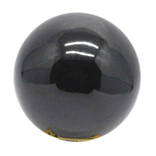 - SHIVANSH CREATIONS Healing Crystals Naturals Gemstone Hand Carved Aura Balancing Metaphysical Black Obsidian Sphere Ball 60-70 MM