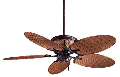 Minka-Aire F580-VR/BB, Shangri-La Vintage Rust 52 inch Outdoor Ceiling Fan with Light