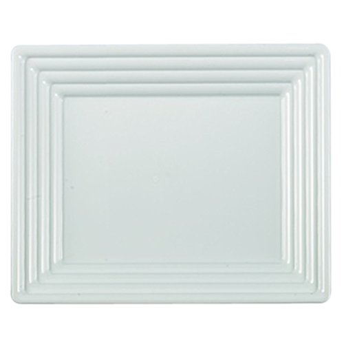Kaya Collection - White Plastic Serving Tray Heavyweight Square Platter 12