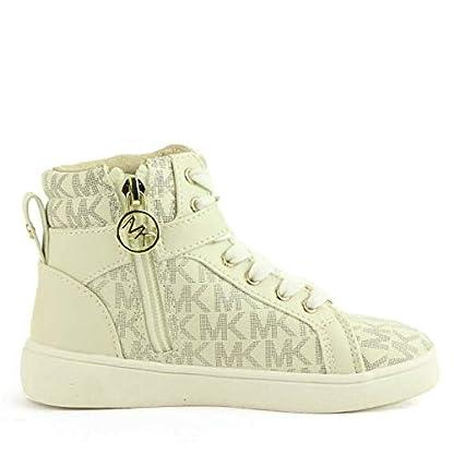 Michael Kors Zia Ivy Abigail Vanilla Juniors High Tops Ankle Boots (13.5 UK) 4