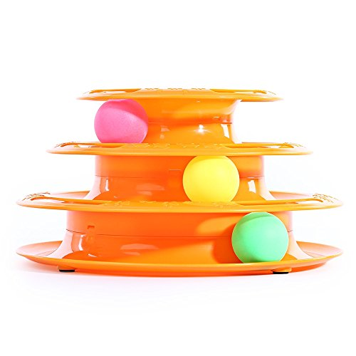 The ThreeTower of Tracks Pet Cat Tracks Ball Amusement Intelligence Anti Slip Dish Funny Design Pet Cat Toy