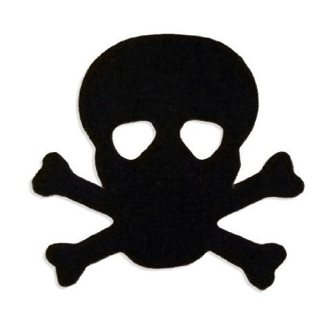Skull & Crossbones Pirate Tanning Stickers 100 Pack
