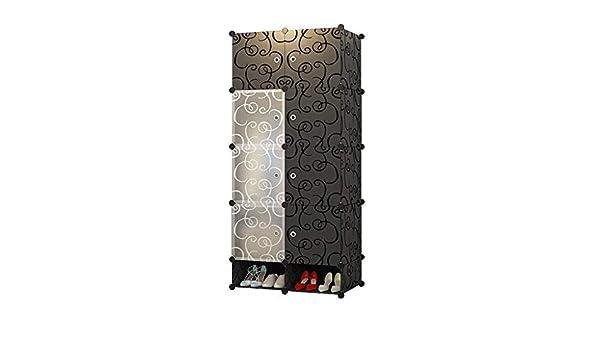 SsLLxk XXH Armario portátil Negro for Colgar la Ropa, Armario Modular, Gabinetes modulares, Ahorro de Espacio, Caja de Almacenamiento de Almacenamiento Ideal Armario for Cubos - plástico AA +: Amazon.es: Hogar