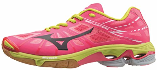 Mizuno Women's Volleyball Shoes Pink 66 Neon Pink - Black - Lime Punch 9.5
