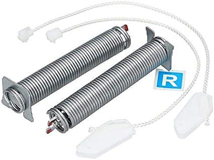 2x juego de bisagras de puerta con poleas de cable para lavavajillas Bosch Siemens Neff 00754866 754866 754866 código de color rojo