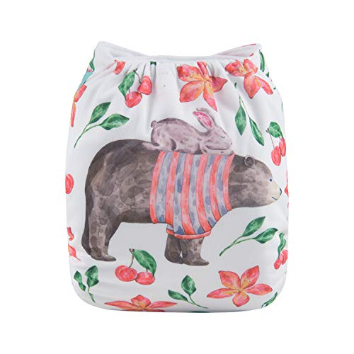 Alva Baby Diapers Reuseable Washable Pocket Cloth Diaper Nappy + 2 Inserts AMD04