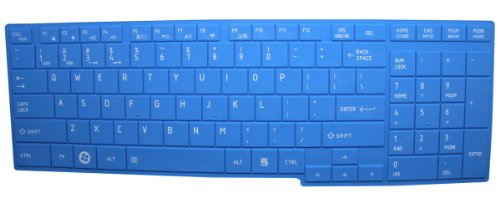 Ultra Thin Soft Silicone Gel Laptop Keyboard Cover Skin Protector for Toshiba Satellite C655 C655D C675 L655 L655D L650 L650D L670 L670D L750 L750D L755 L755D A660 A660D A665 A665D P750 P750D P755D P755 P770 P775 US Layout - Retail Packaging (Blue)