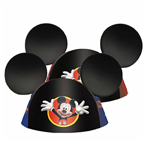 Mickey Mouse Ears 8 Birthday Party Hats Favors Party Supplies (Mouse Trap Halloween Costume)
