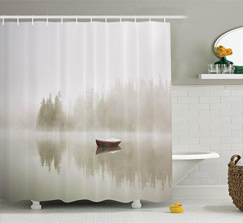 Curtain Ambesonne Silhouette Bathroom Accessories