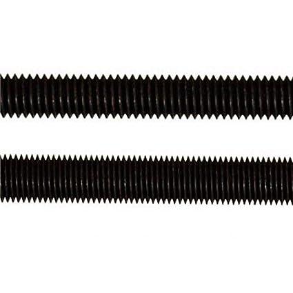 Varilla roscada negra de acero al carbono grado 12.9 M2//M2.5//M3//M4 de 250 mm de longitud M2