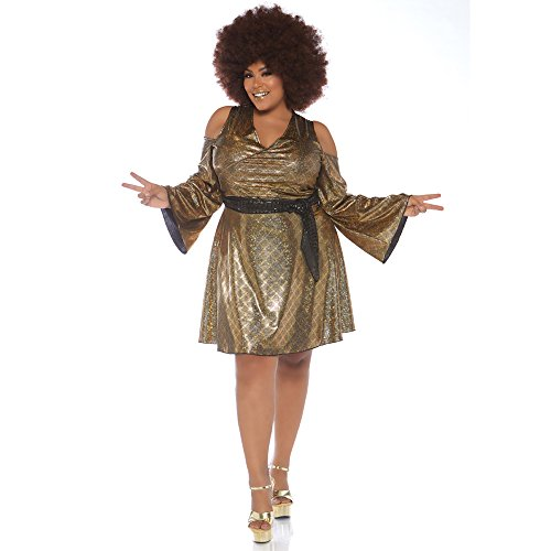 Leg Avenue Womens Plus Size Disco Costume