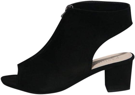 TRENDINAO Women's Chunky Heel Peep Toe