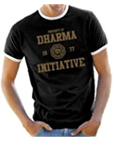Lost Dharma Universität Ringer / Kontrast T-Shirt S-XXL div. Farben