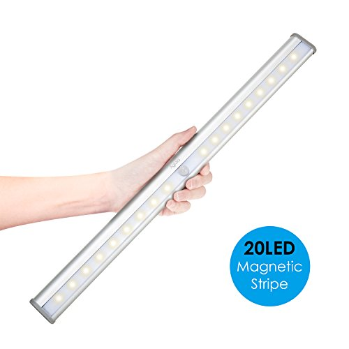 Aglaia Closet Light 20 LEDs with Motion Sensor, Stick on Lights with Magnetic Strip, USB Rechargeable with Built-in 1000mAh Battery - Usb Light Sensor