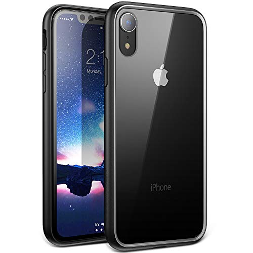 YOUMAKER Premium Crystal Clear Hybrid Case for iPhone XR, Slim Fit Lightweight Bumper Scratch Resistant Drop Protection Shockproof Protective Cover for All New Apple iPhone XR 6.1 inch - Black
